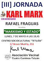 """200 aniversario Karl Marx:Rafael Fraguas """"Marxismo y Estado"""""""