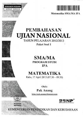 Pembahasan Soal UN Matematika Program IPA SMA 2013 (TRIK SUPERKILAT