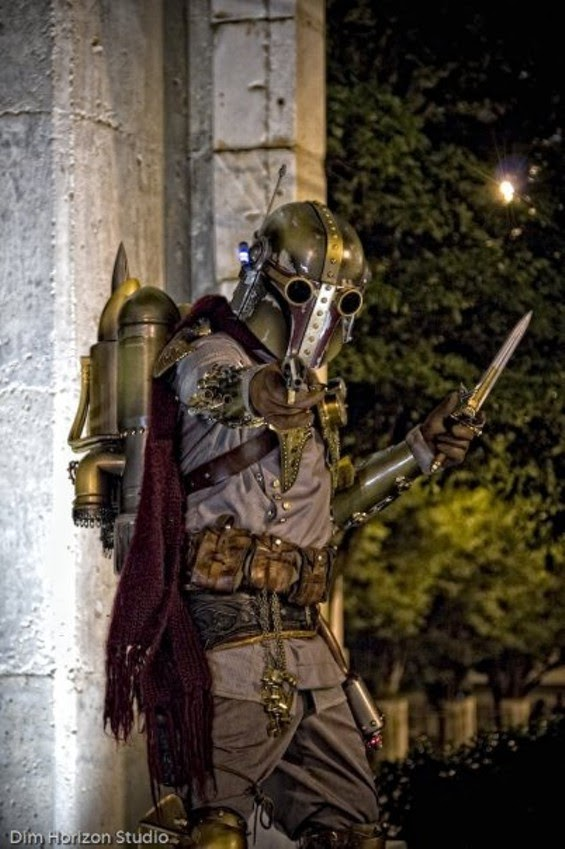 cosplay de Boba fett version steampunk