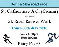 Conna 5k in NE Cork...Thurs 30th July