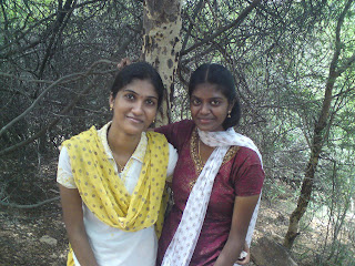 Gorgeous looking Tamil girls visiting forest areas.