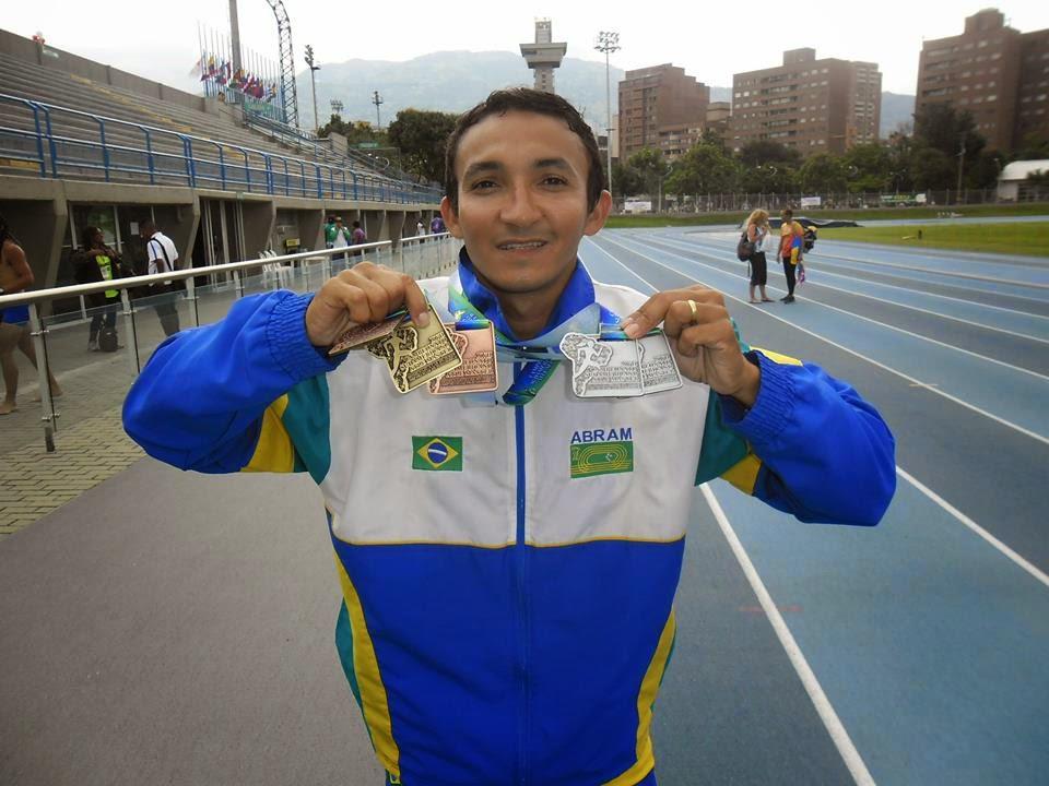 Atleta de Nova Cruz /RN é Ouro,Prata e Bronze, no Sul Americano de Atletismo Master.