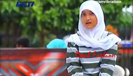 Gaya Jilbab Fatin X Factor Indonesia