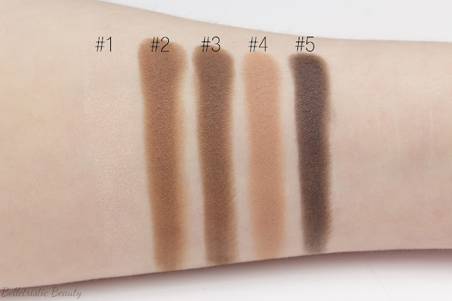 Yves Saint Laurent Fauves 2 Eyeshadow Couture Palette 5 Color Ready To Wear swatches in studio lighting