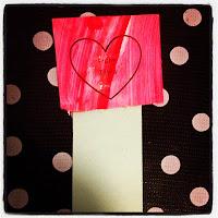 Valentine's day, craft, heart, glitter, bookmark