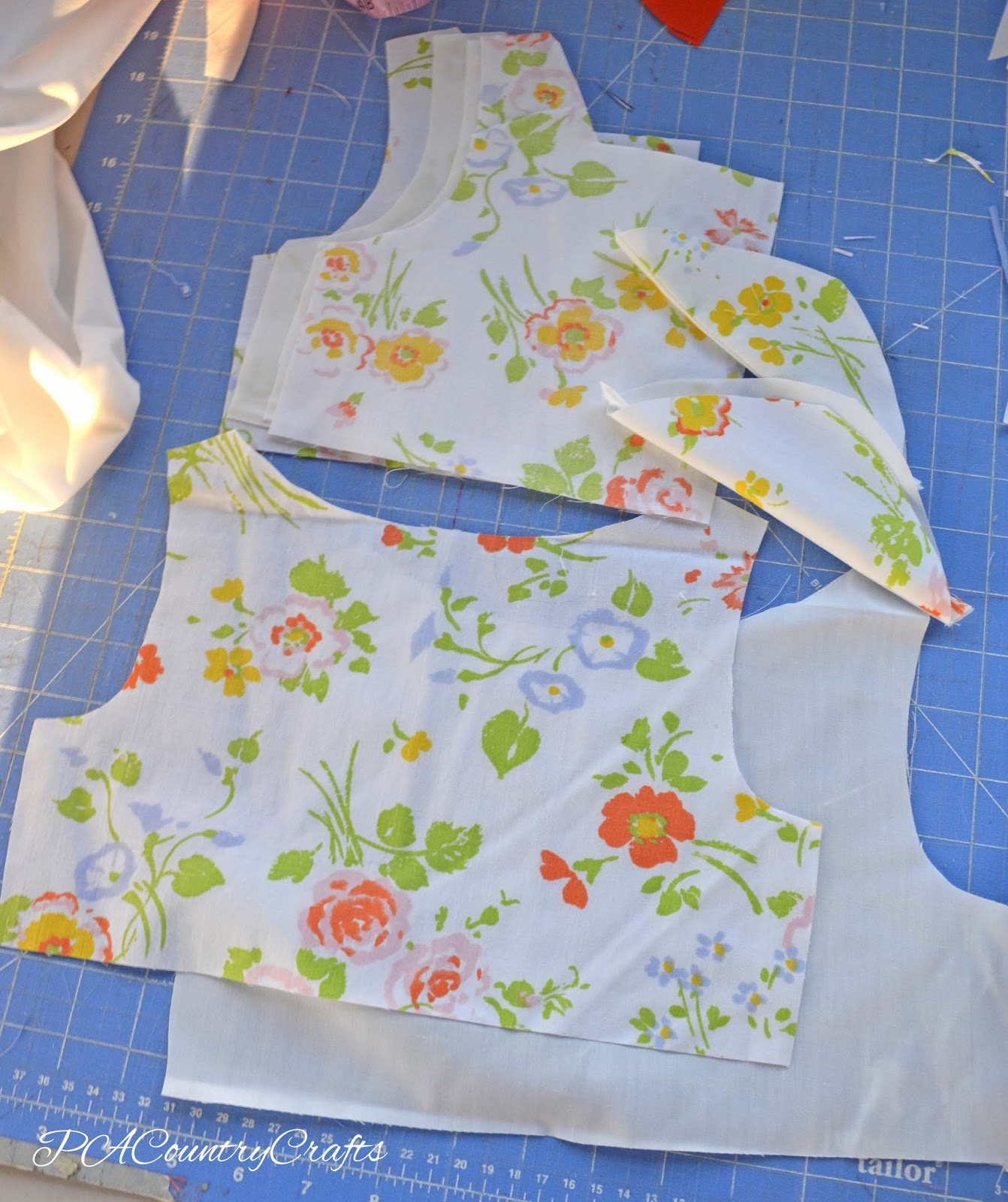 Gracie Dress Tutorial pieces