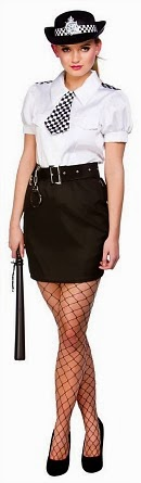 Police Woman Fancy Dress Costume