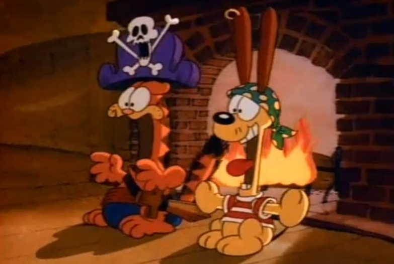 how to react to an ancient cabin boy garfields halloween adventure