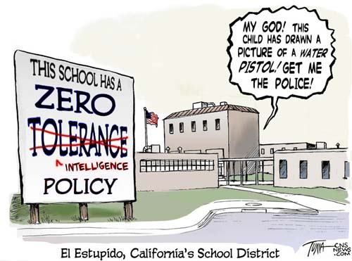 zero tolerance policy You'd be hard pressed to find many management side employment lawyers who favor broad use of zero tolerance policies, and from what i can.