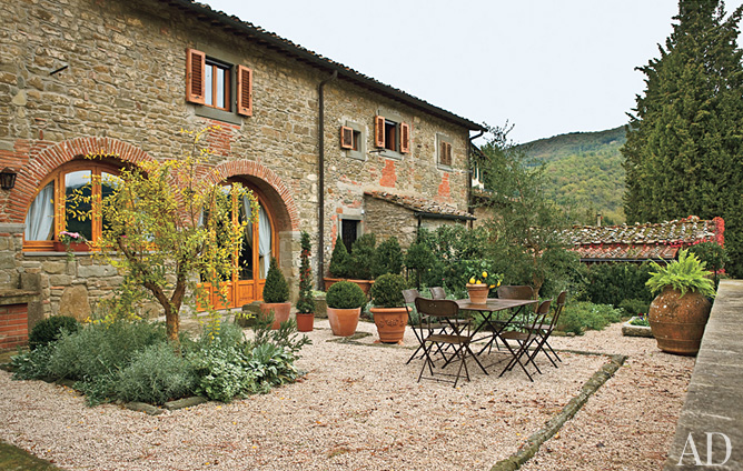 Kayla lebaron interiors latest architectural digest Rustic tuscan house plans