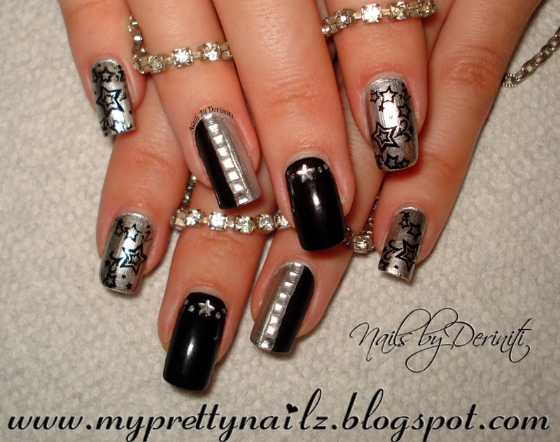 My pretty nailz hot new years eve party bling nail art design and hot new years eve party bling nail art design and video tutorial prinsesfo Images