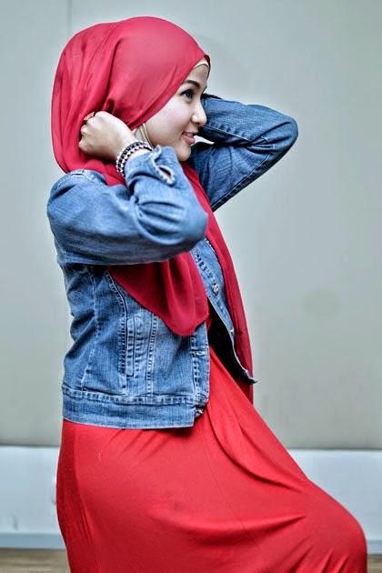 Tutorial Hijab Pashmina Sifon Praktis dan Style Santai 2