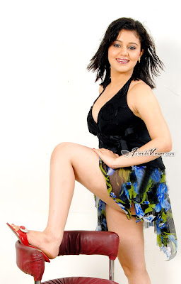 Indian sexy masala beauty Shakthi shows her sexy milky legs to camera