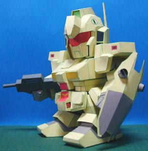 RGM-79 Kuueru Gundam Papercraft