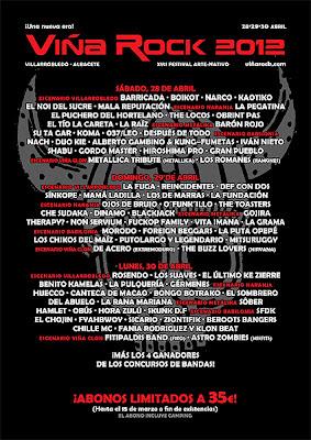 Cartel Festival Viña Rock 2012