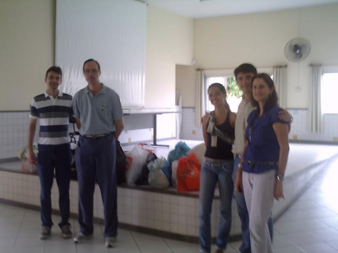 Profs. Marcus, Alcemi, Wagner, Neuza e Priscila (Assist. Social)