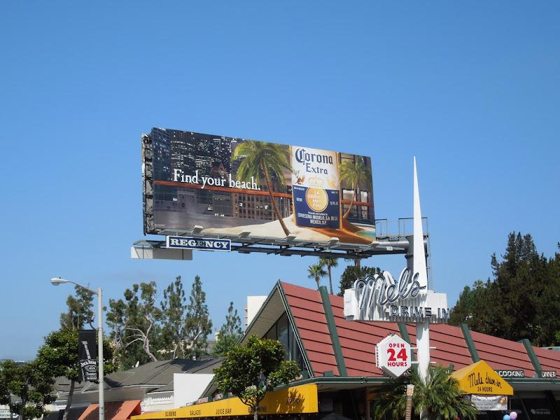 Find your beach Corona billboard