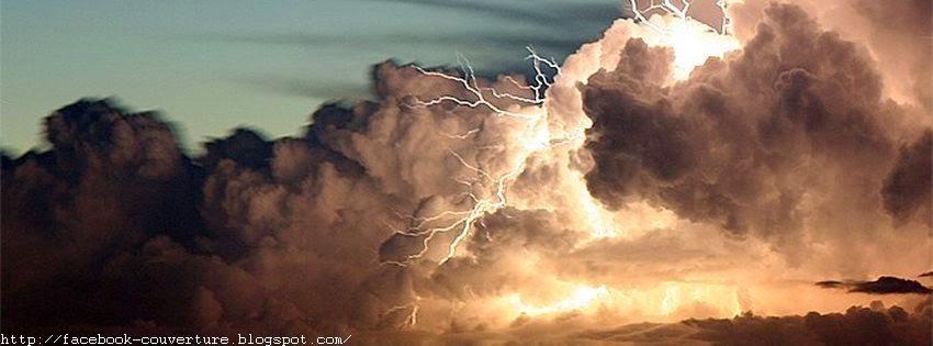 Belle couverture facebook nuages et orages
