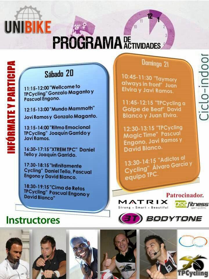 Programa Ciclo Indoor Feria UNIBIKE
