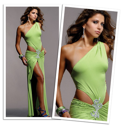 Green Cocktail Dress on Prom Dresses  August 2011