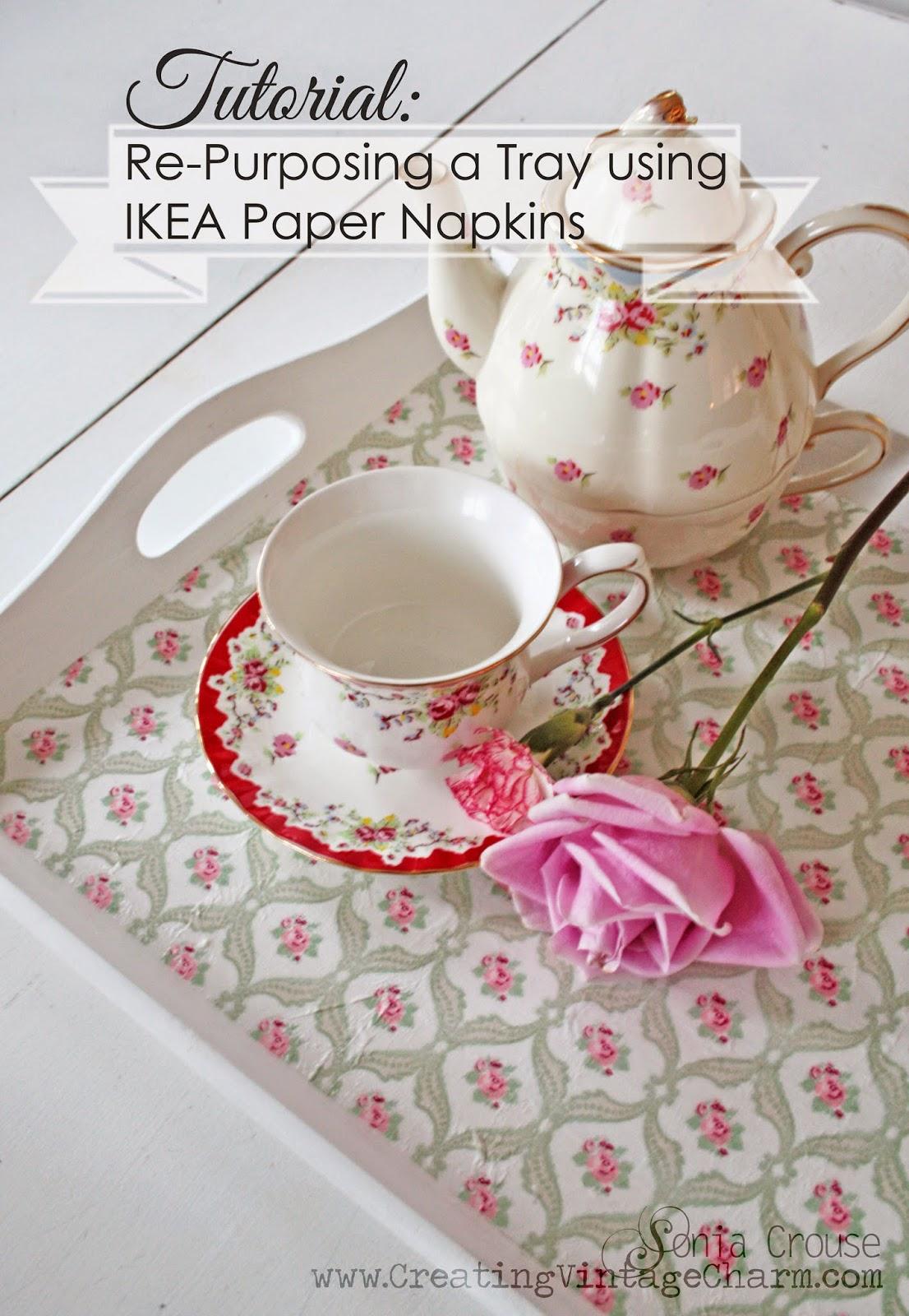 Creating Vintage Charm: Tutorial: Re-purposing a Tray using IKEA ...