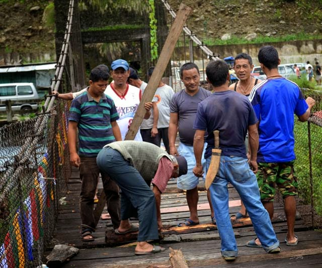 upmarg self help group repair jogighat foot bridge