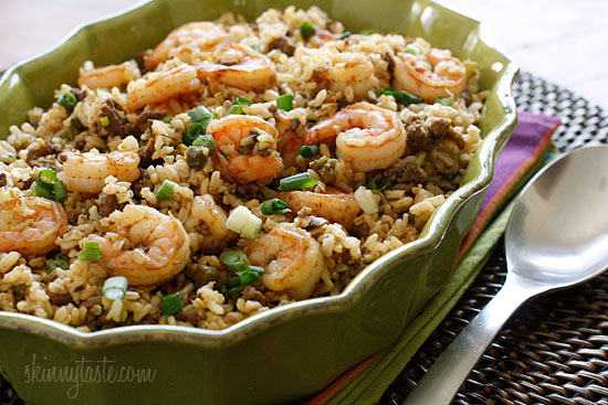 dirty brown rice with shrimp Dirty Brown Rice with Shrimp