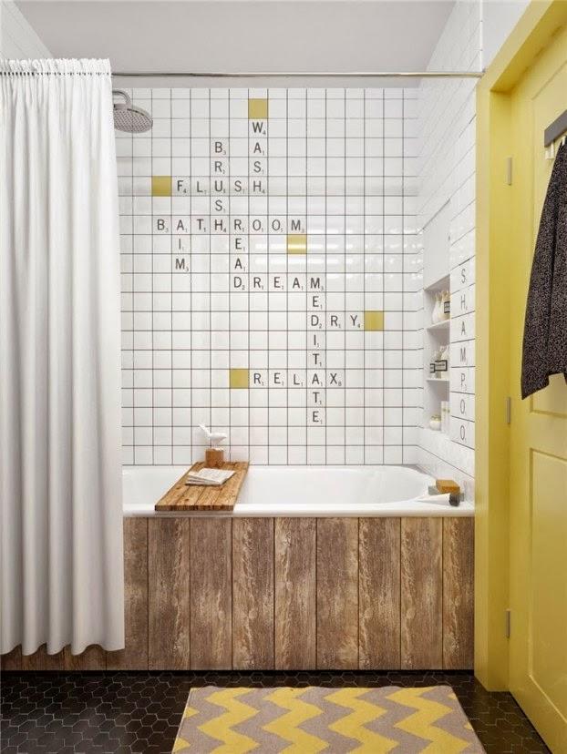scandinavian colour apartment bathroom