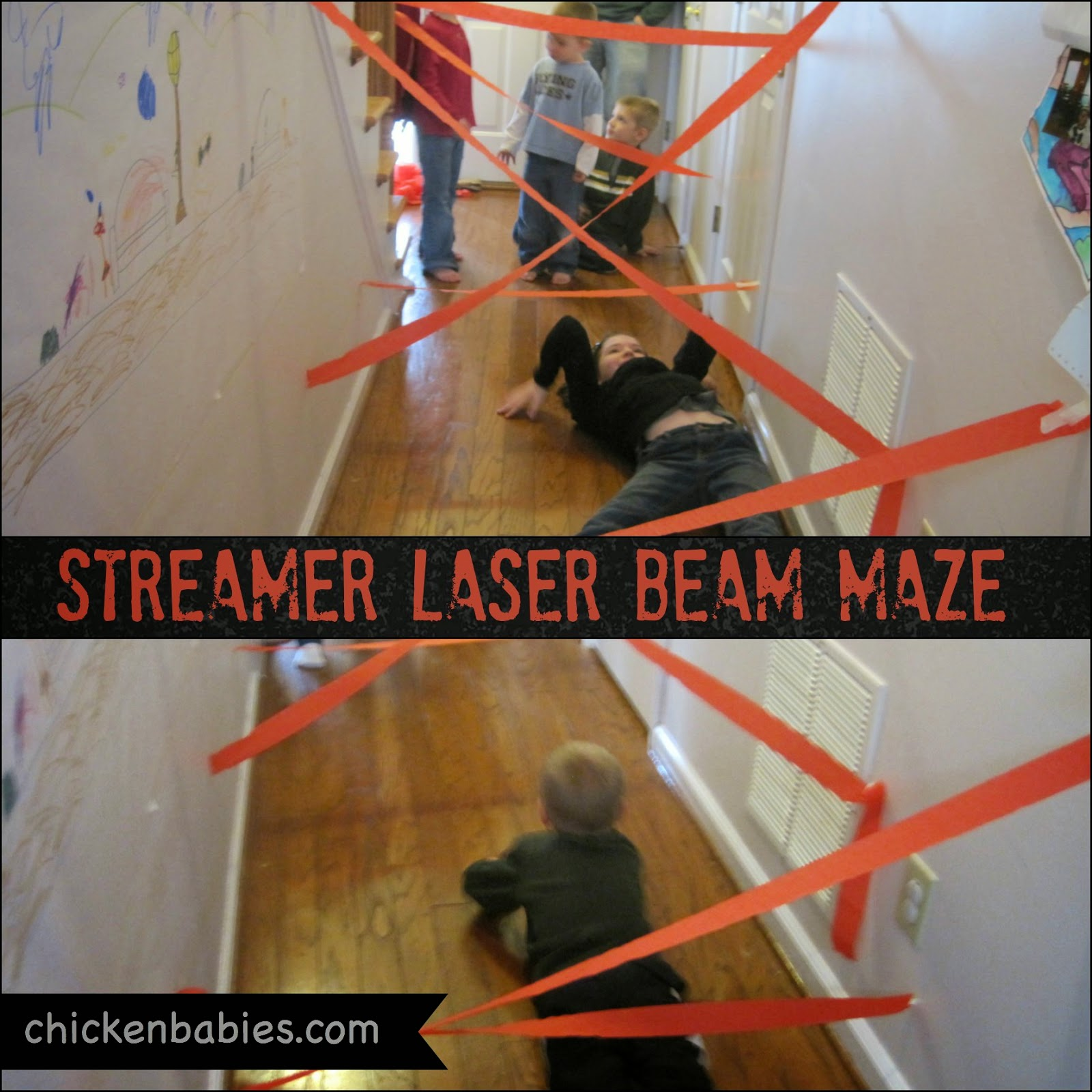 Awesome ideas for a spy training birthday party. Love the laser maze!