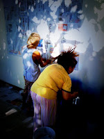 painting the dive shop, pook and malee