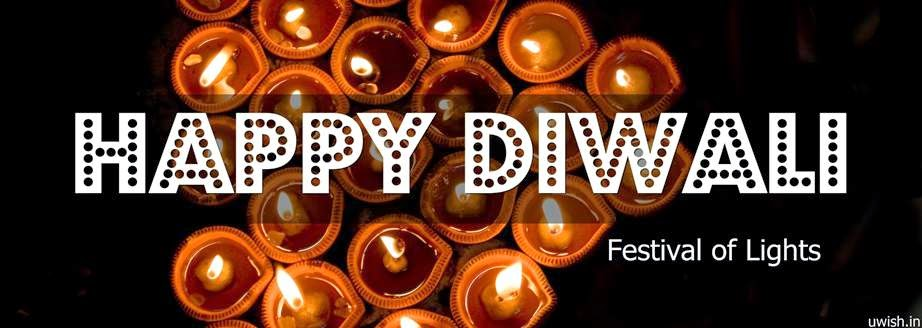 Happy Diwali e greeting cards and wishes with beautiful lights on the festival of lights.