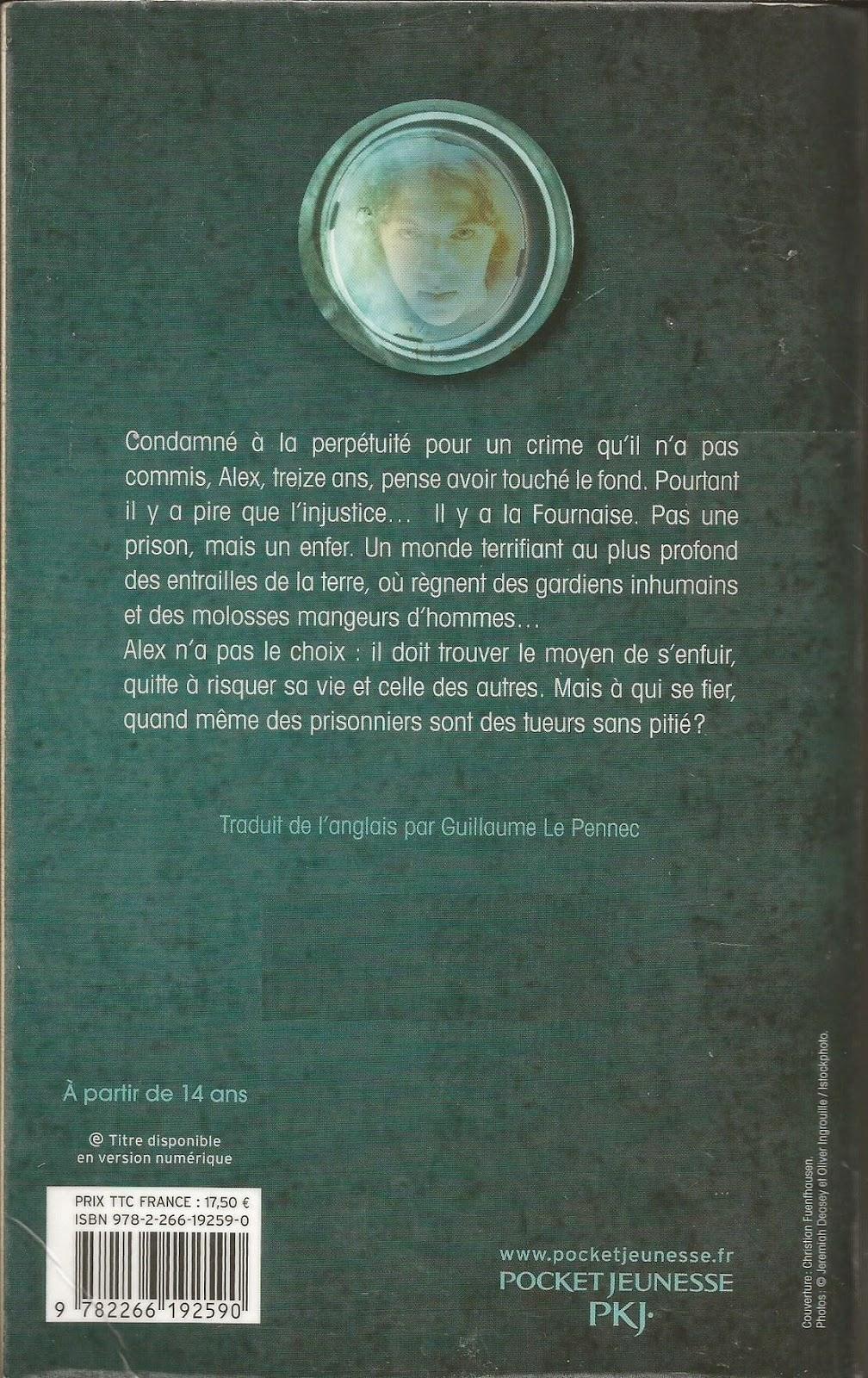 La Fournaise Alexander Gordon Smith back cover quatrième de couverture