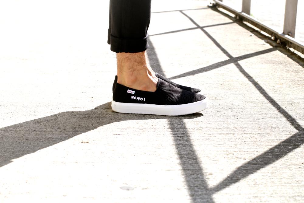 BLOG-MODE-HOMME_Preppy_Dries-Van-Noten_pull-resille_Victoria-100ans_slipper_minimaliste-apc-blazer_noir-et-blanc1