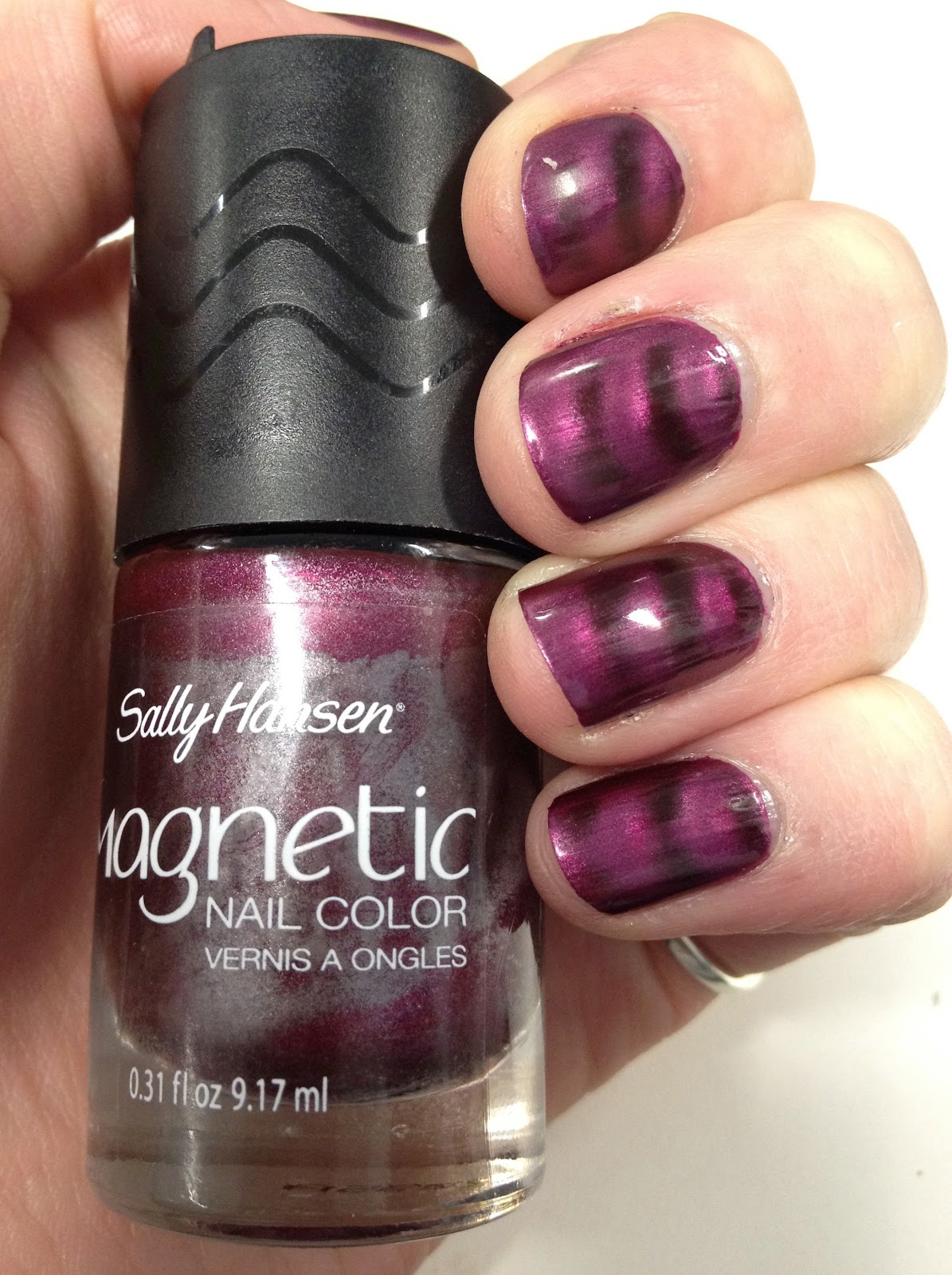 NOTD - Sally Hansen Magnetic Nail Color in Red-y Response - Lather ...