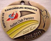 200 km medal