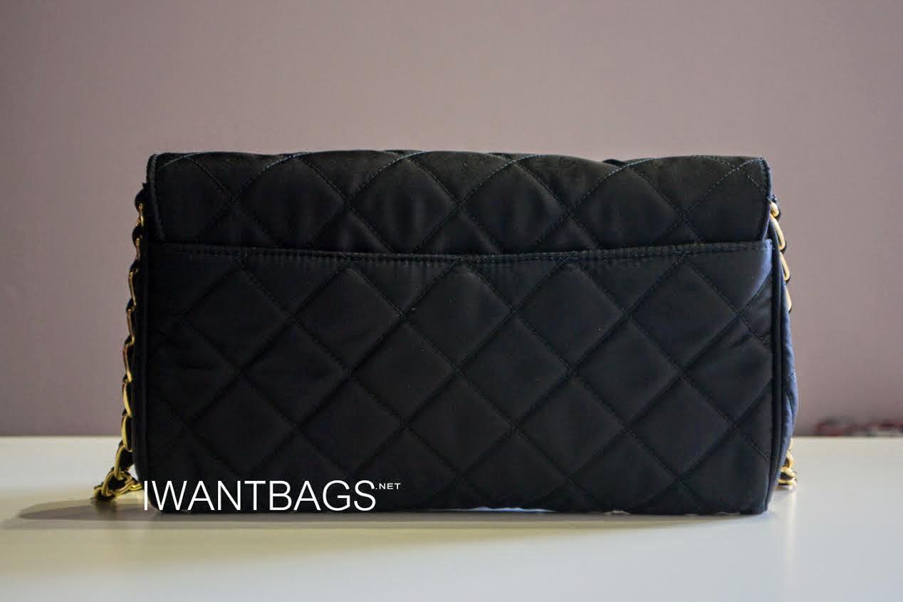 black prada clutch bag