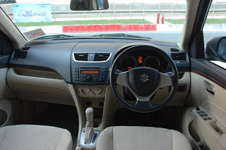 new maruti suzuki swift dzire interior view