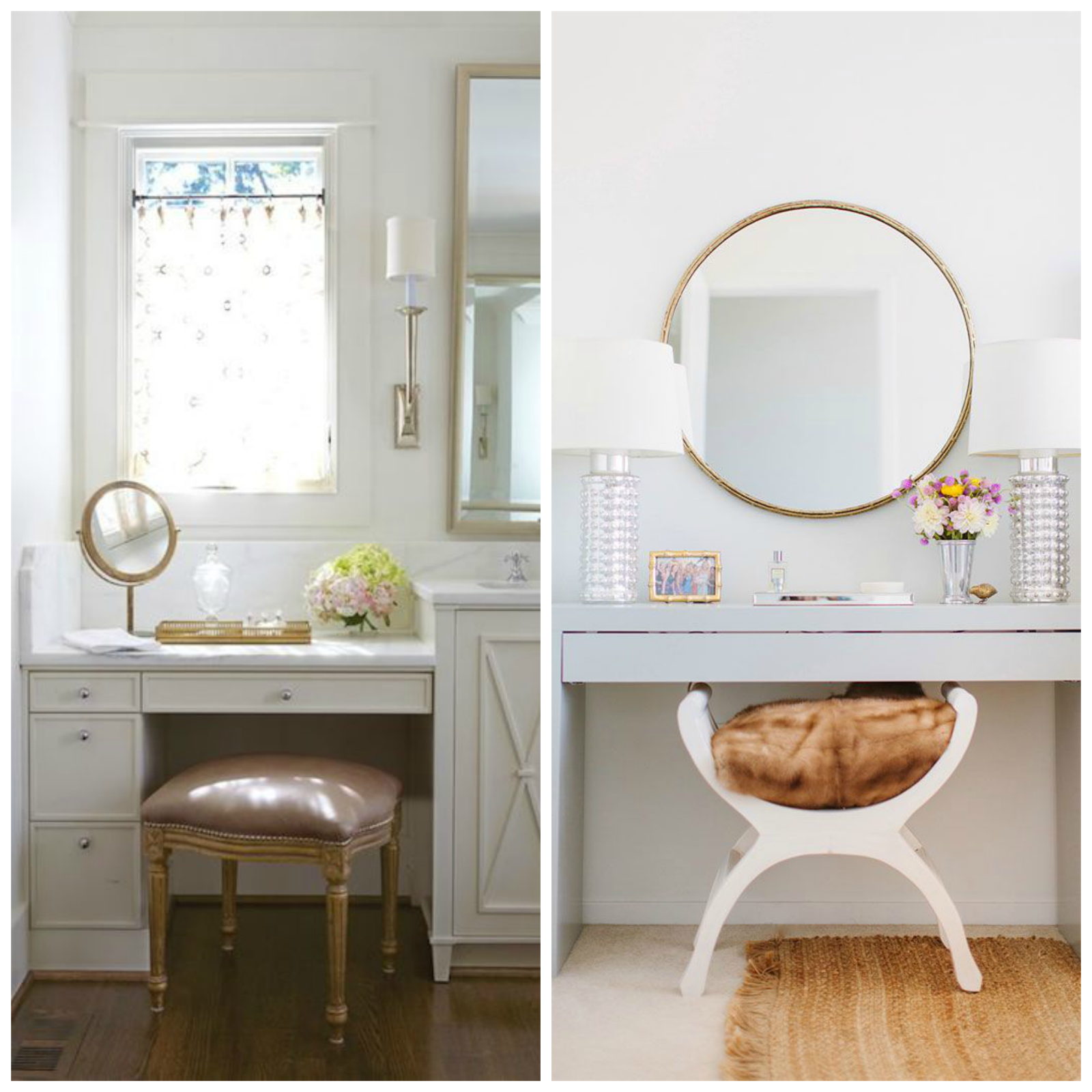 Anna: needed: makeup vanity space