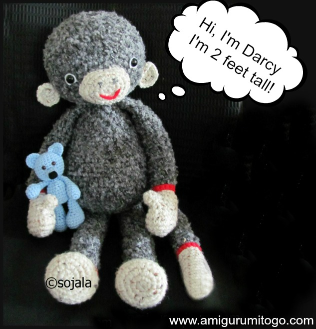 Amigurumi Big Heart : Darcy Large Monkey Free Crochet Pattern ~ Amigurumi To Go
