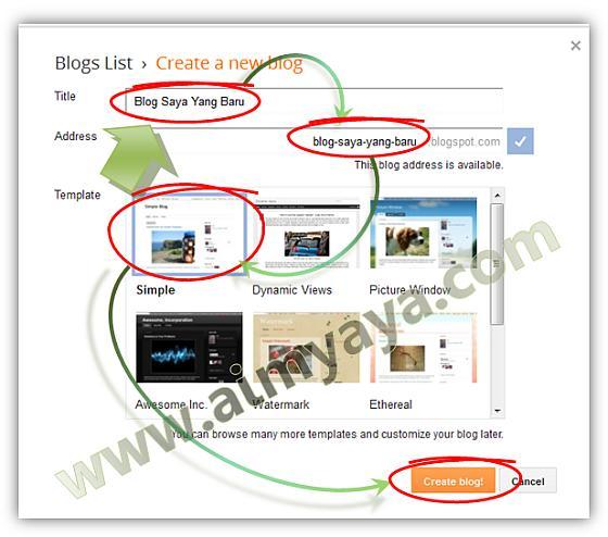 Gambar: Cara Membuat Blog Baru Gratis di Blogspot