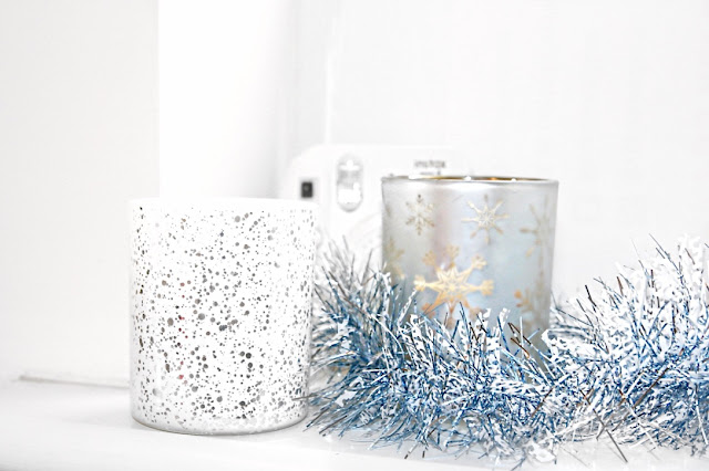 Katherine Penney Chic Blogger December Christmas Candles Pretty White Pastel