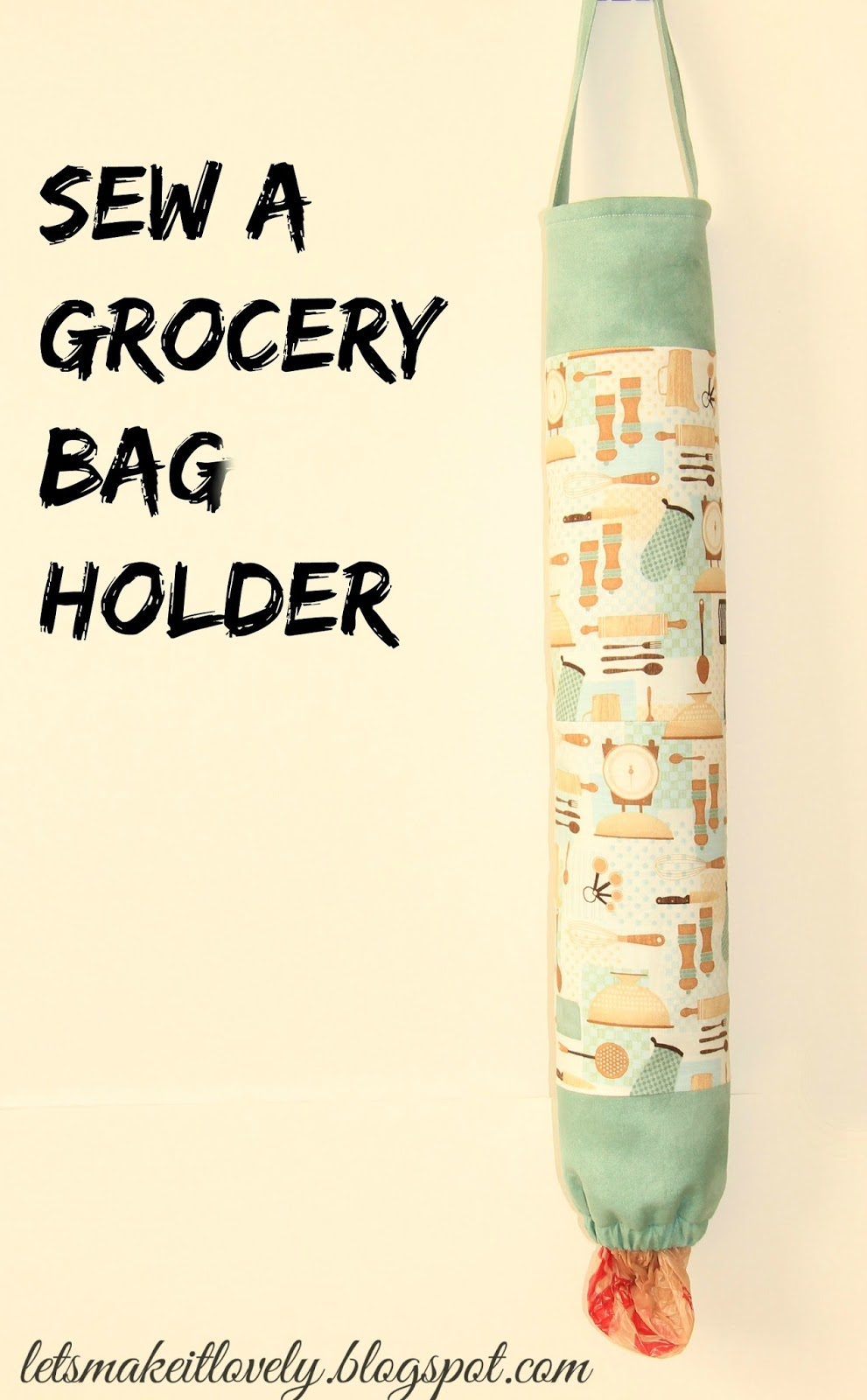 Sew a Grocery Bag Holder Tutorial