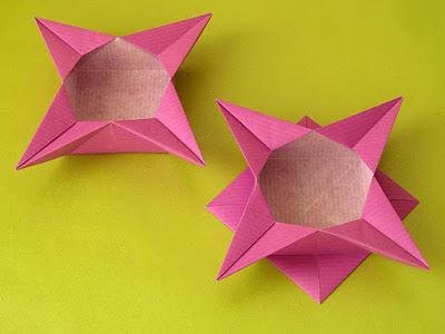 Origami Scatola a stella 2 e variante by Francesco Guarnieri