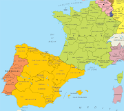 . some border areas of Spain. Additionally, the Basque region spans both . (map of spain and france)