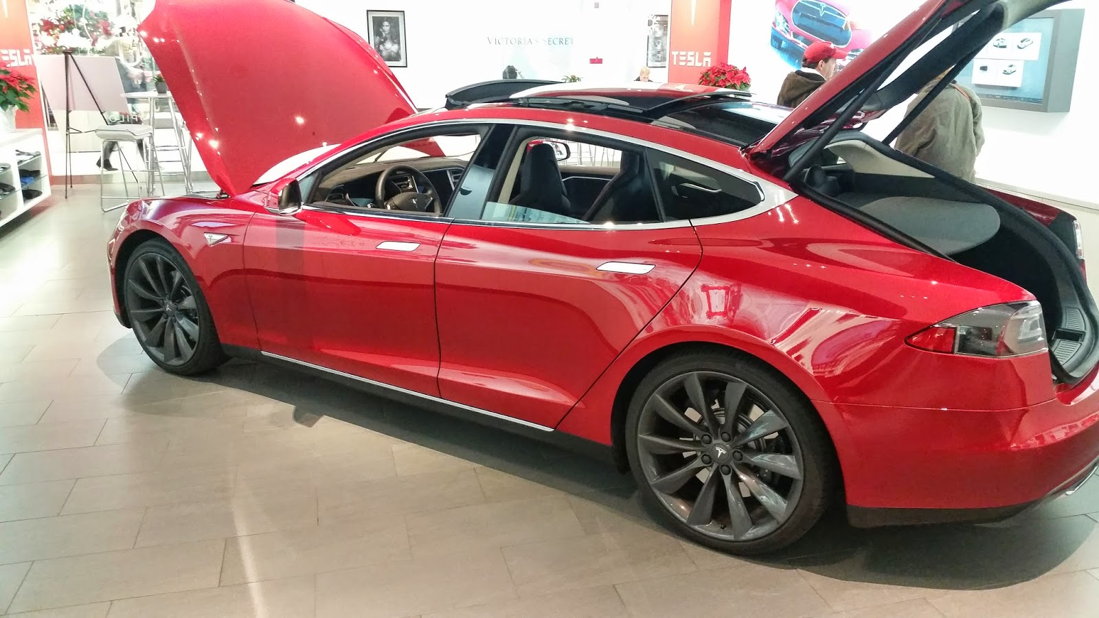 Tesla Model S at Natick Mall