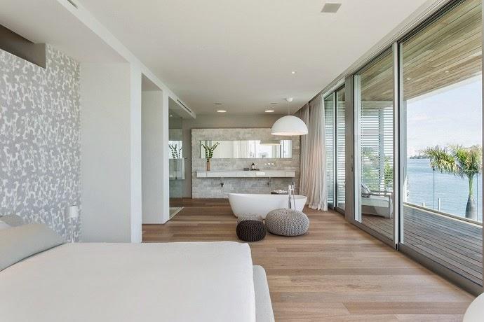 Casas De Decoracion En Miami ~ paleta de colores grises con la idea de crear un ambiente tranquilo en