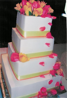 Spring Wedding Cake with roses