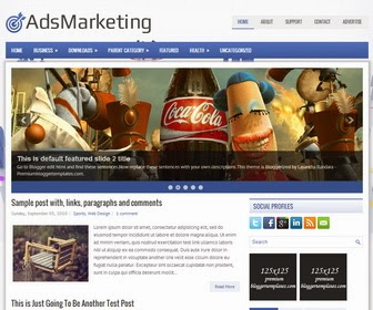 AdsMarketing Blogger Template