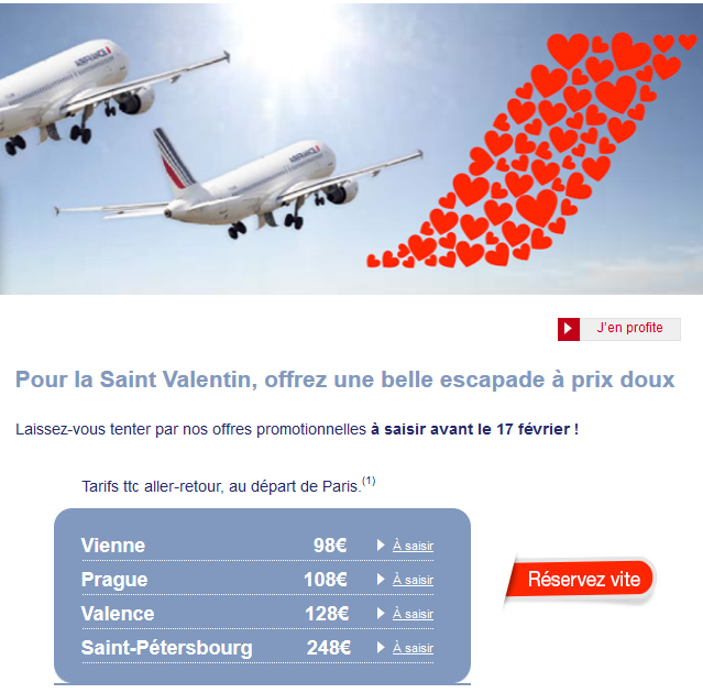 Saint Valentin Air France