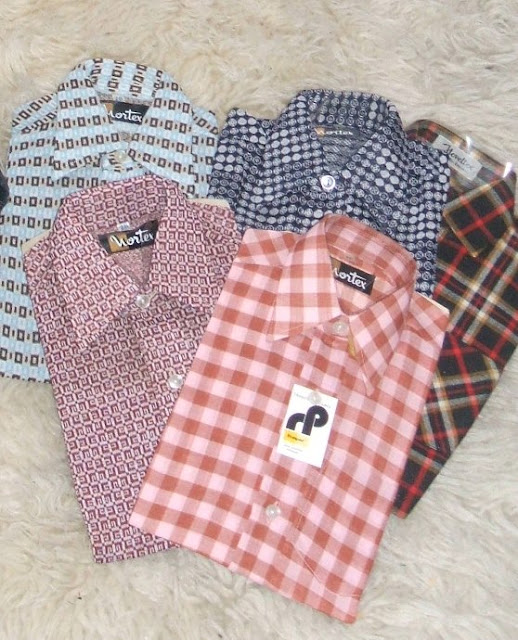 vintage children shirts 1970 70s 1960 60s plaid check